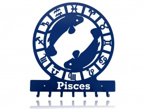 "Key holder, hanger for keys or clothes ""SIGN OF THE ZODIAC - PISCES"""