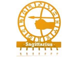 "Key holder, hanger for keys or clothes ""SIGN OF THE ZODIAC - SAGITTARIUS"""