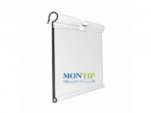 Ticket hanging price dust cover holder on hook 65mm